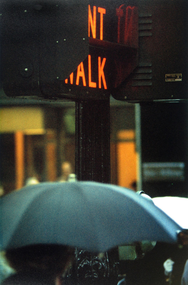 """Don't Walk"" by Saul Leiter, 1952. Published in 'Early Color' (Seidl, 2006)"