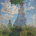 """Woman with a Parasol"" by Claude Monet, 1875. From the National Gallery of Art."
