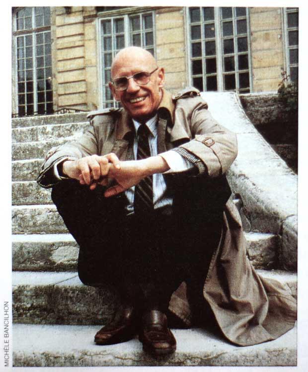 Michel Foucault by Michèle Bancilhon, May 1984. Magazine Littéraire, no. 325, October 1994, p. 63.