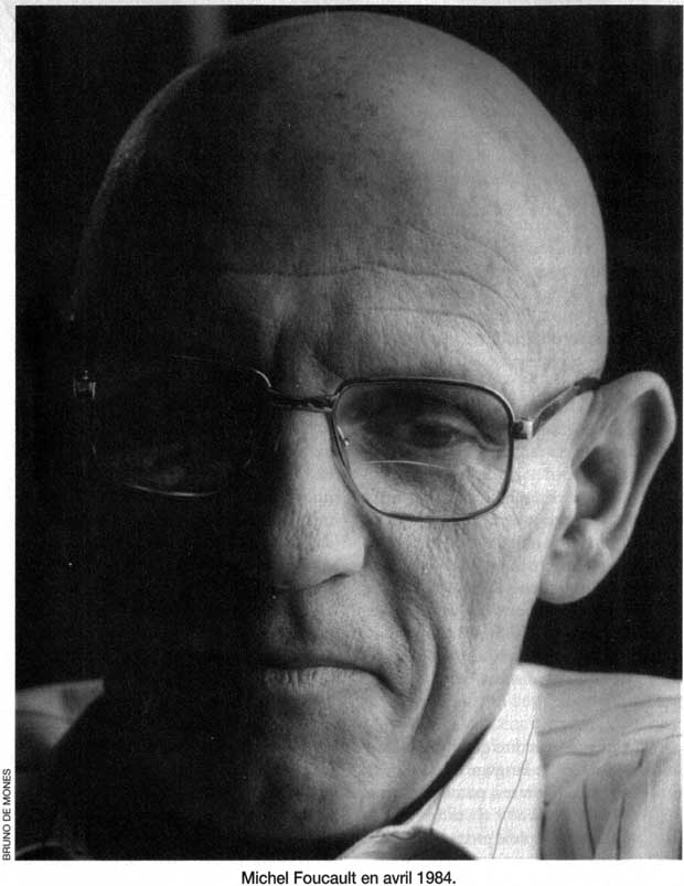 Michel Foucault by Bruno de Monès, April 1984. Magazine Littéraire, no 325, October 1994, p. 47.