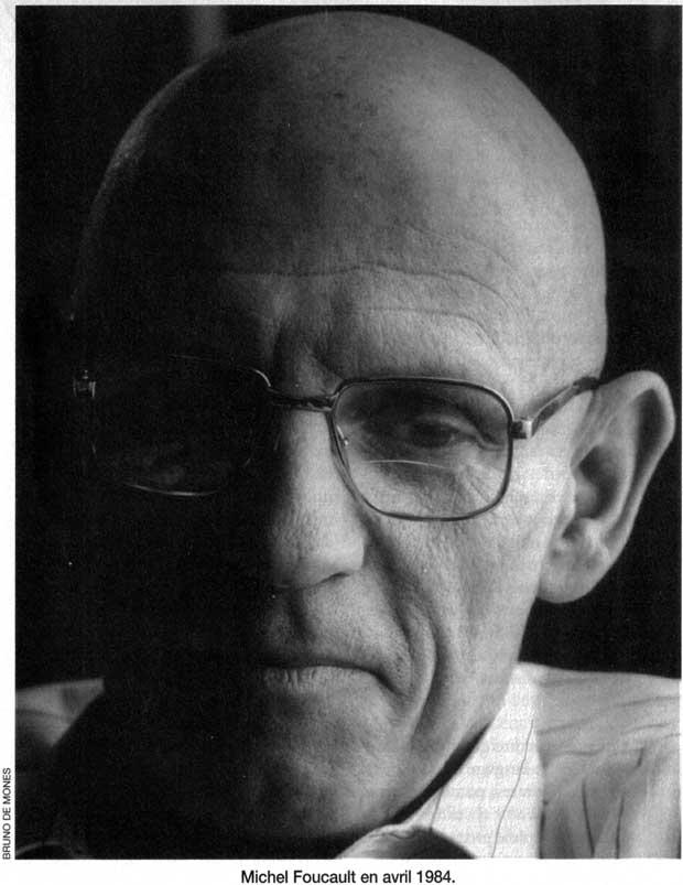 Michel Foucault by Bruno de Monès, April 1984. Magazine Littéraire, no 325, October 1994, p. 47.