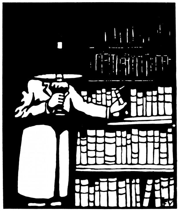 Le Bibliophile, Félix Edouard Vallotton, 1911