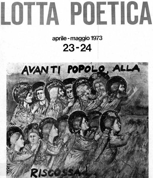 Cover for 'Lotta Poetica' nos 23-24, 1973. Retrieved from  the Fondazione Berardelli website.