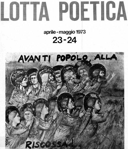 Cover for 'Lotta Poetica' nos 23-24, 1973. Retrieved from  the Fondazione Berardelli website.