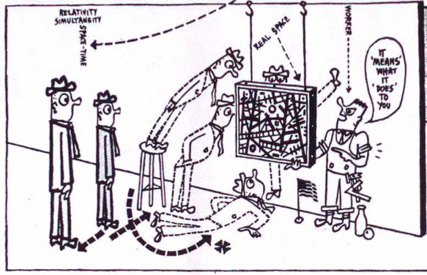 """""""How to Look"""" (detail) by Ad Reinhardt, in Arts & Architecture, January 1947, p. 22. Originally published in 1946."""