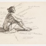 Edward,  Study for Morning Sun, 1952. Fabricated chalk and graphite pencil on paper, 12 1/16 × 18 15/16 in. (30.6 × 48.1 cm). Whitney Museum of American Art, New York; Josephine N. Hopper Bequest  70.291.