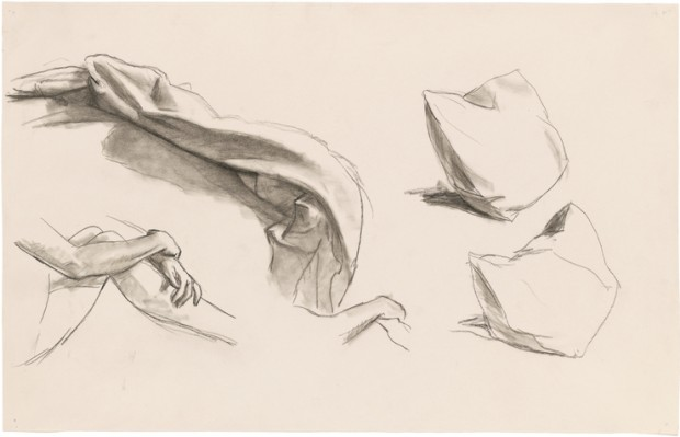 Edward Hopper, Study for Morning Sun, 1952. Fabricated chalk on paper, 12 1/16 × 18 15/16 in. (30.3 × 48.1 cm). Whitney Museum of American Art, New York; Josephine N. Hopper Bequest  70.245