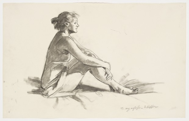 Edward Hopper, Study for Morning Sun, 1952. Fabricated chalk on paper, 11 15/16 × 18 15/16 in. (30.3 × 48.1 cm). Whitney Museum of American Art, New York; Josephine N. Hopper Bequest  70.290
