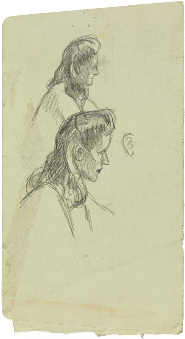 Edward Hopper, Study for Morning Sun, 1952. Fabricated chalk on paper, 9 11/16 × 5 1/4 in. (24.6 × 13.3 cm). Whitney Museum of American Art, New York; Josephine N. Hopper Bequest  70.201