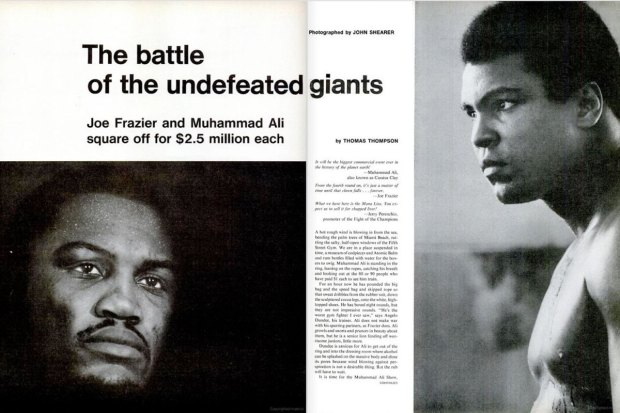 """The battle of the undefeated giants"", LIFE magazine, March 5, 1971, pp. 40-41. Google Books."