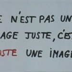 Intertitle from the film 'Vent d'Est' by Jean-Luc Godard and the Dziga Vertov Group. At appr. 00:35:00.