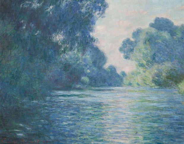 """""""Bras de la Seine près de Giverny"""", Claude Monet, 1897, oil on canvas, 75 x 92 cm, (W 1487), Musée d'Orsay, Paris. Image retrieved from Flickr."""