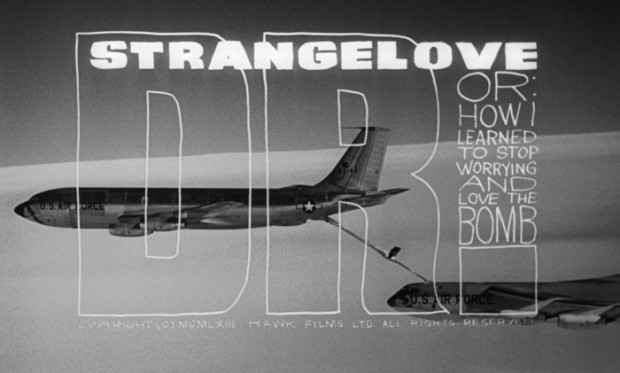 Still from the title sequence for Stanley Kubrick's Dr. Strangelove (1964). Image retrieved from DVD Beaver.