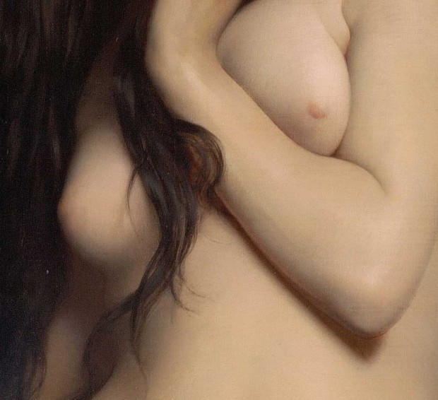 'La cigale' ('The grasshopper') (detail 03), Jules Joseph Lefebvre, 1872.
