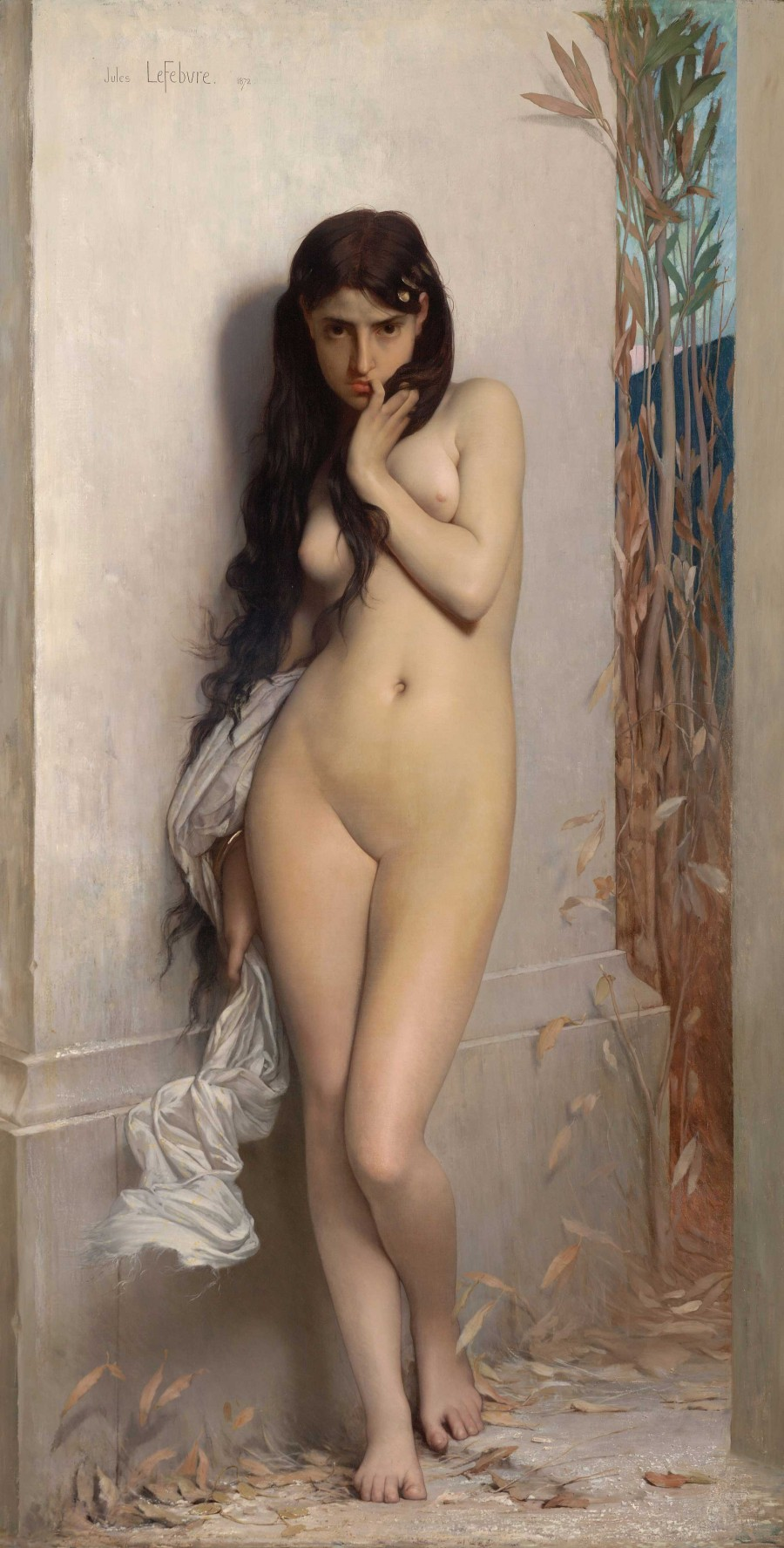 """La cigale"" (""The Grasshopper"") by Jules Joseph Lefebvre, 1972, oil on canvas, w1238 x h1867 cm (Unframed). Rights: National Gallery of Victoria, Melbourne, Felton Bequest, 2005."