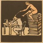 An Ex Libris by Miro Parizek, 1937