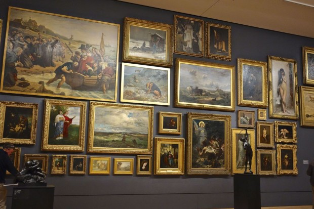 Photo of Lefebvre's 'La cigale' ('The grasshopper') as it hangs in the 19th Century European Paintings Gallery, at the The National Gallery of Victoria, in Melbourne, Australia. Photo from 2014, retrieved from the blog Sound Like Wish.