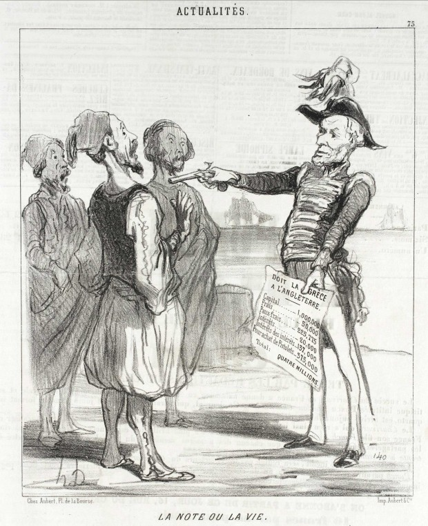 """La Note ou la Vie"" by Honoré Daumier (1808-1879), published in Le Charivari, February 15, 1850"