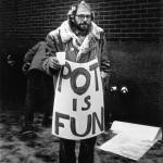 Allen Ginsberg at marijuana rallies, mid-60s