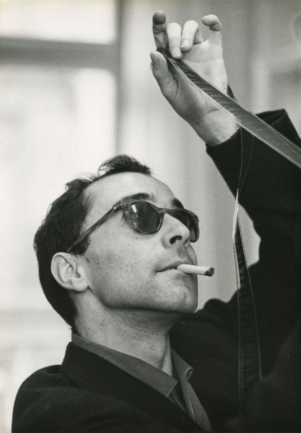 Jean-Luc Godard by Philippe R. Doumic, circa 1960.