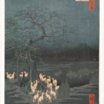 """New Year's Eve Foxfires at the Changing Tree, Ōji"" Hiroshige, ca. 1857"