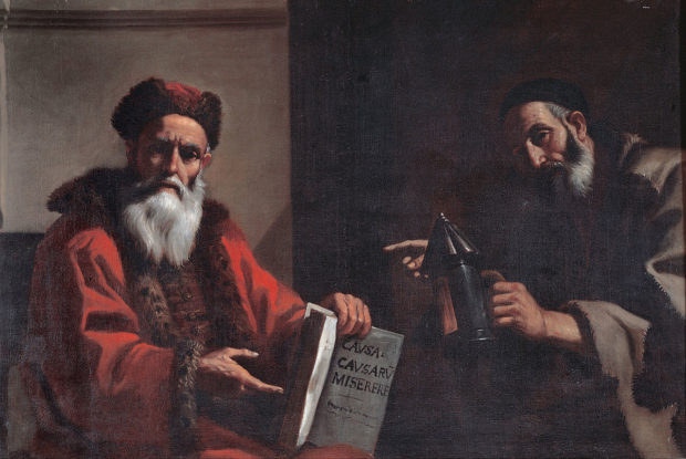 A portrait from the mid-17th century showing Plato and Diogenes together.